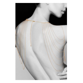 METALLIC CHAIN SHOULDERS & BACK JEWELRY